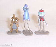 New REGULAR SHOW Cartoon Network MINI TOY PLAYSET FIGURES COMPLETE SET OF 3