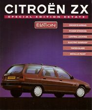 CITROEN ZX ELATION 1.9D estate Limited Edition 1995 UK mercato OPUSCOLO illustrativo