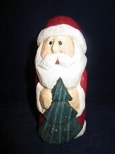 """Eddie Walker Christmas Santa with Christmas Tree 4.25"""" tall ~ Excellent"""