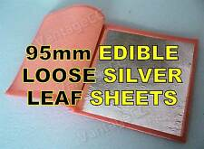 25x 95mm Pure 999 Silver Edible Loose Leaf Sheets in Booklets, Huge! Wedding