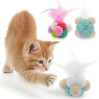 5pcs Interactive Cat Toy Ball Feather Colorful Funny Kitten Playing Toys Catnip