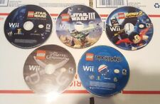Nintendo Wii Lot of 5 Lego Games Star Wars Batman Pirates Rock Band