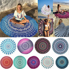 Boho Round Mandala Tapestry Throw Hippie Gypsy Blanket Yoga Mat Beach Shawl