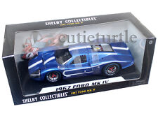 Shelby Collectibles 421  1967 Ford GT MK IV 1:18 Diecast Model Car Blue