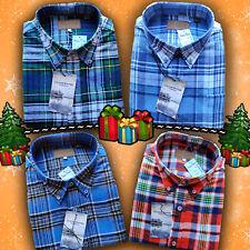 Mens Long Sleeve Button Up Plaid Flannel   Soft Cotton Shirts   Men's M L XL 2XL