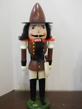 """Santa's Workshop Wooden Nutcracker Holiday 20"""" Soldier with Sword Working Mouth"""