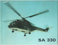 SUD AVIATION SA 330 HELICOPTER MANUFACTURERS SALES BROCHURE 1969