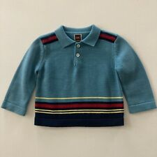 Tea Baby Boy 18 Months Teal Sweater Pullover Pima Cotton