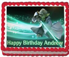 Star Wars Yoda  Edible Cake Topper Icing 1/4 sheet Personalized Image Decoration
