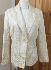 H & M LADIES FLORAL PATTERN JACQUARD EVENING SPECIAL OCCASION JACKET SIZE 12