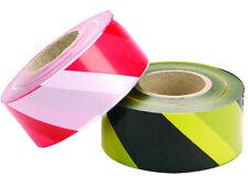 Barrier tape. Black & Yellow. Red & White. Hazard. Warning. Danger. Non adhesive