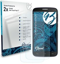 Bruni 2x Protective Film for Alcatel One Touch Pop C7 Screen Protector