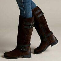 Ladies Clarks Adelia Dusk Brown Suede Long Boots Size UK 4 1/2
