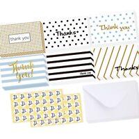 Ohuhu 36 Pack Brown Kraft Paper Thank You Cards W/ 36 Envelopes
