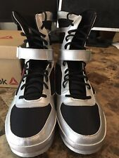 Reebok Boxing Boot Buck Men's Size 14 Silver Black Red New In Box