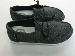 HEY DUDE WENDY STRETCH RAVEN WOMEN'S SHOES sz 6 as is