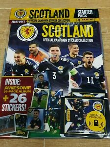 Panini Scotland Football 2021 Official Collection Starter Pack Album +26 Sticker