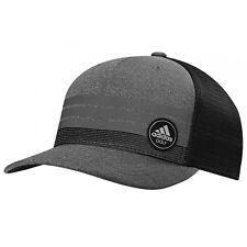 NEW Adidas Golf Stripe Trucker ClimaCool Grey/Black Adjustable Snapback Hat/Cap