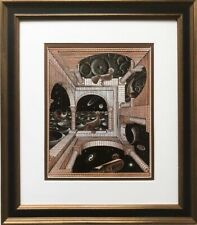 "M.C.Escher ""Other World"" 1947 Custom Framed Art Graphic Architect Bird Math"
