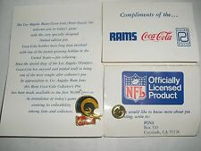 1985 NFL Coca-Cola Coke Peter David Los Angeles St Louis Rams 2 Bar Helmet Pin