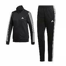 ADIDAS TEAM SPORTS BLACK/WHITE 3 STRIPES TUTA DONNA