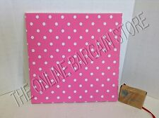 "Pottery Barn Teen Style Tile Fabric Pin Message Board 16"" Dorm Dottie Dot Pink"