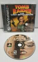 Tomb Raider The Last Revelation PS1 PlayStation Black Label Complete TESTED VGC