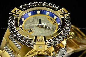 Invicta 53mm Reserve Bolt Hercules Blue Gold Automatic Meteorite Dial SS Watch