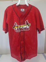 Cardinals TEAMWORK Athletic Apparel Baseball Jersey Large Stitched Red #11 Mesh