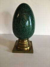 Large Green Ceramic Egg Wildmaster Arthur Rutenberg Corp Vintage 1989