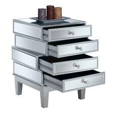 Convenience Concepts Gold Coast J Daniels End Table, Silver/Mirror - 413888SS