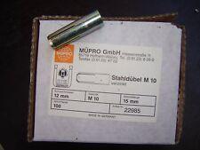100 Stahldübel M10 15mm  22985 Müpro Neu