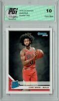 Coby White 2019 Donruss Basketball #206 Gem Mint Rookie Card PGI 10