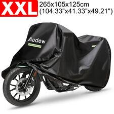 210D Motorrad Abdeckung Wasserdicht Abdeckplane Motorradgarage 265x105x125cm