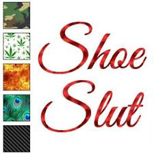 Shoe Slut Decal Sticker Choose Pattern + Size #3477