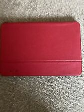Knomo Red/Pink Leather iPad mini 3 case