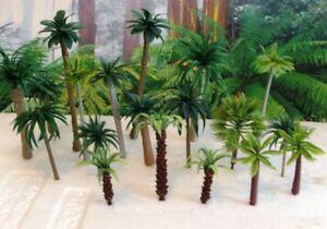 20 Rainforest Jungle Palm Trees Plastic Tropical Plants 1/87 -1/35 scale