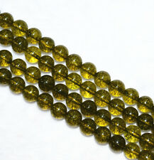 Beautiful natural 6mm dark green tourmaline gemstone jewelry loose beads15""