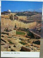 Israel Jerusalem The Old City Northern Wall El Asqu Mosque Mount Olives - unpost