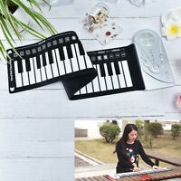 portable 49 keys roll-up piano usb keyboard conctroller hand electronic pian od