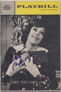 CAROL BURNETT signed 1964 original playbill AUTOGRAPH IN PERSON w/ ticket rare