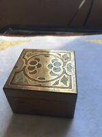 Brass And Wooden Small Trinket Box