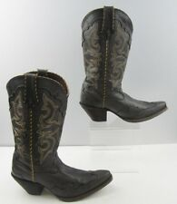 Ladies Durango Grey Leather With Stitching Detail Western Boots Size: 8 M