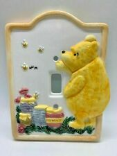 Classic Winnie The Pooh Bear & Honey Charpente Light Switch Cover Baby Nursery