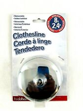 Whitney Design Retractable Clothesline 8 Feet, Silver