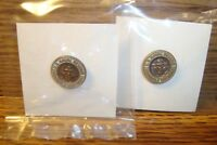 #2 Two U.S.Navy-Naval Reserve Honorable Discharge Lapel Button Pin Copper Tone