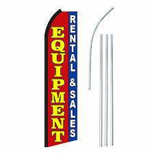 EQUIPMENT Advertising Feather Flutter Swooper 2.5' Banner Flag and Pole Only