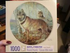 "1000 Bits And Pieces 26.6"" Round Wolf Puzzle Soul Mates"