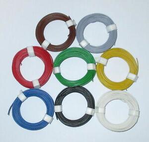 """[0,149€/m]Litze  flexibel 18x0,10  0,14 mm²   8 Ringe a 10 Meter  """"NEU"""""""