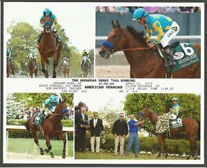 "2015 - AMERICAN PHAROAH - 4 Photo Arkansas Derby Composite - 10"" x 8"""
